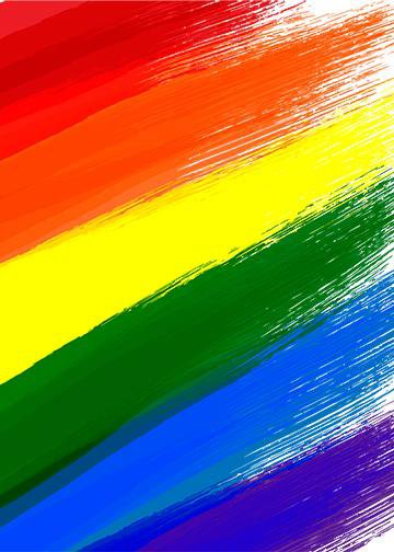Gay LGBT Flag Grunge Background, Door Cover - Door Decoration