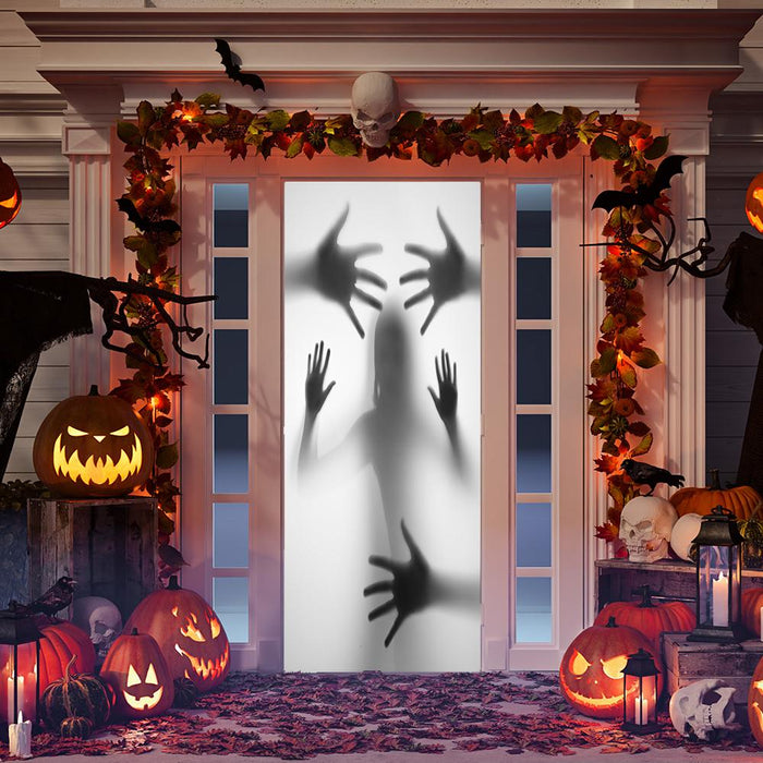 Silhouette Halloween Door Cover