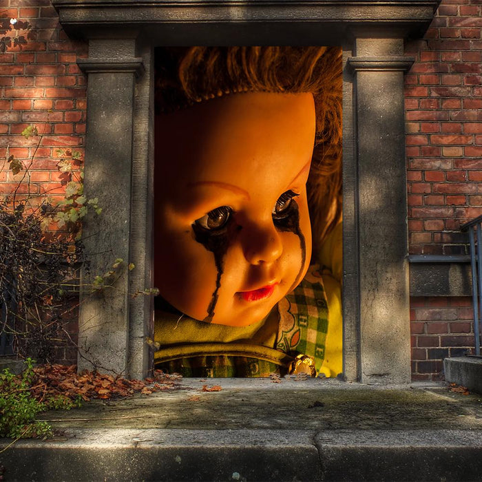 Creepy Doll Door Cover