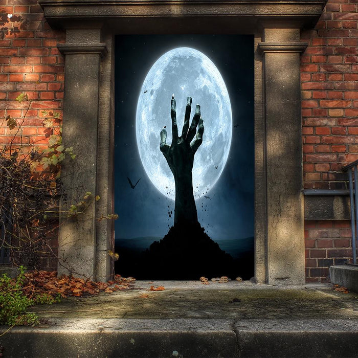 Creepy Grave Hand Door Cover