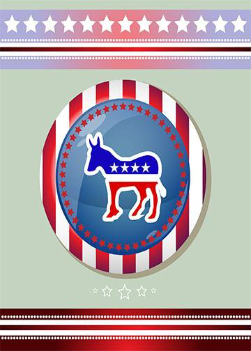 Patriotic Donkey, Door Cover - Door Decoration