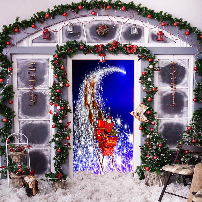 Magical Santa's Sleigh Door Cover