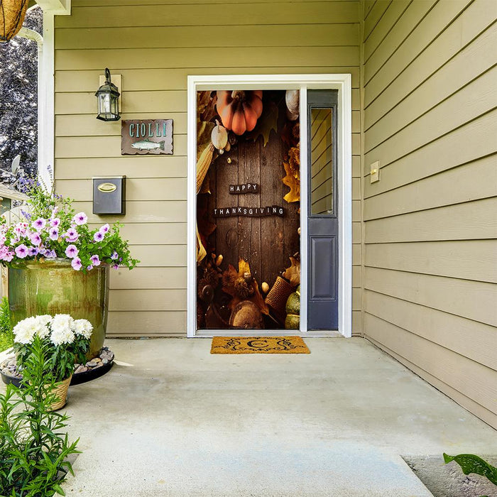 Thanksgiving Door Hangers - door covers