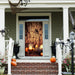 Web with Pumpkins Door Cover