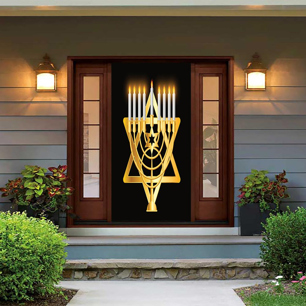 Chanukah Decorations Door Cover From $49.99 USD - DoorFoto™