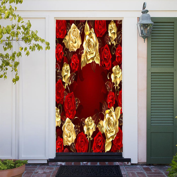 Roses Everywhere Door Cover