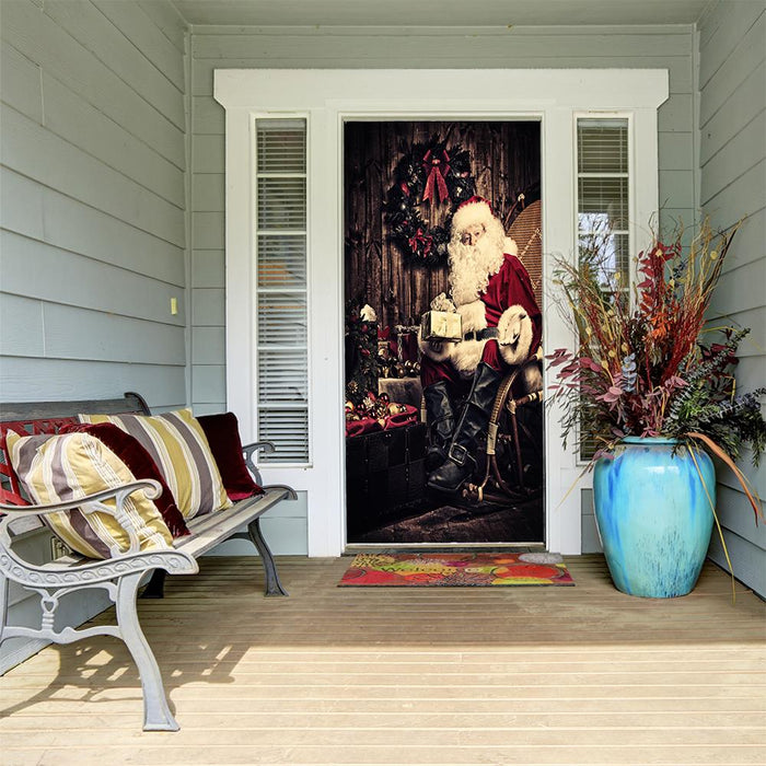 Santa Claus With Gifts - door decoration