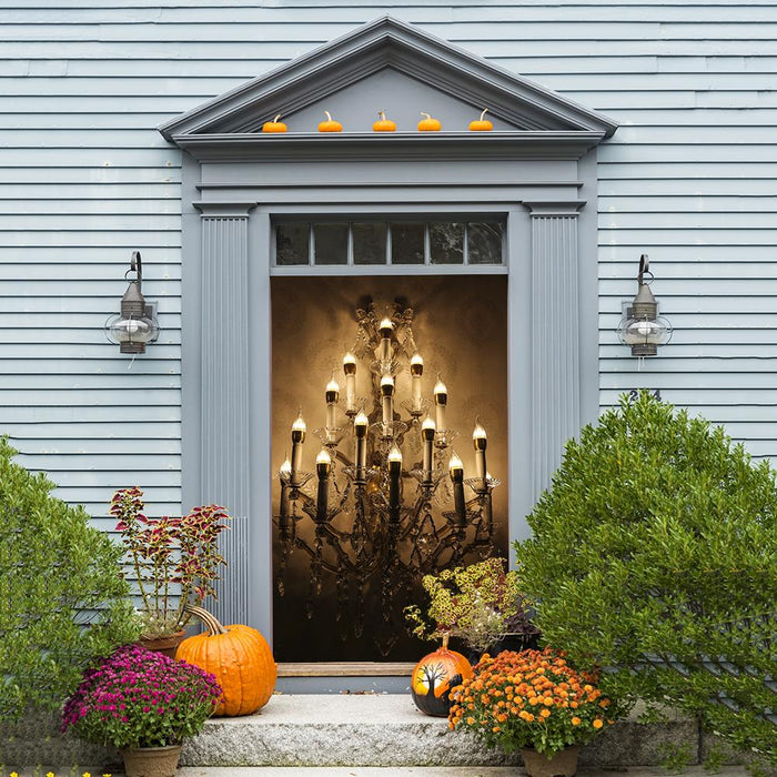 Halloween Chandelier Decoration Door Cover