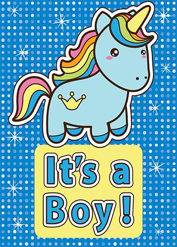 It's a Boy - Unicorn