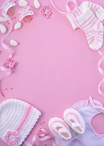 Customizable - Baby Pink Background