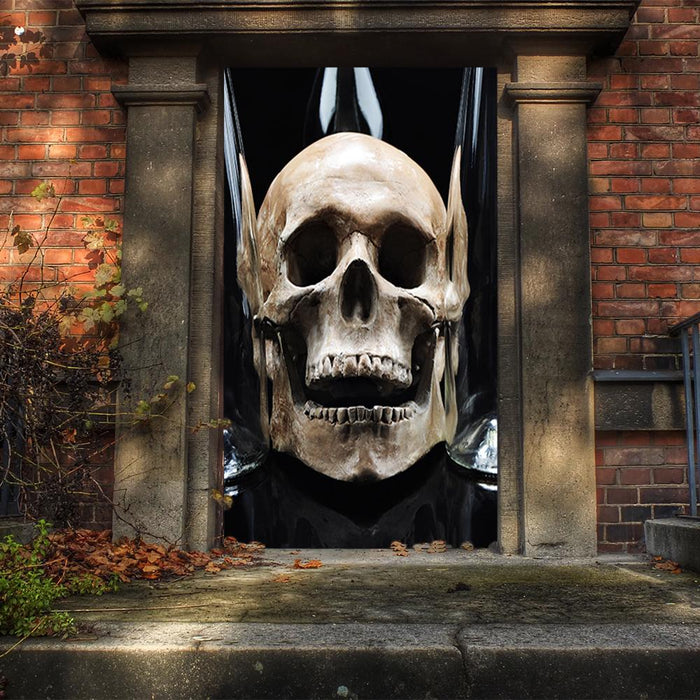 Spooky Skull, DoorWrap - Door Decoration