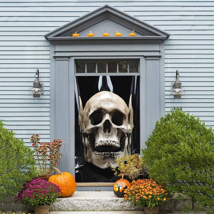 Spooky Skull Door Cover