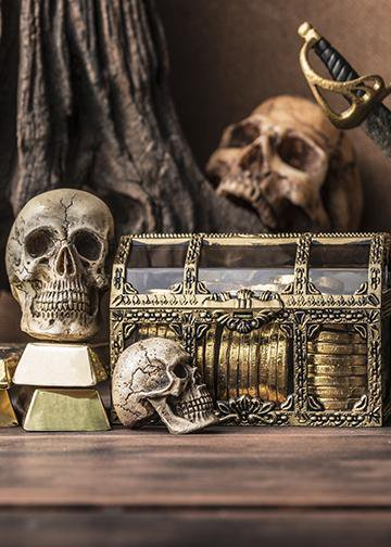 Pirate Chest, Door Cover - Pirate Home Decor