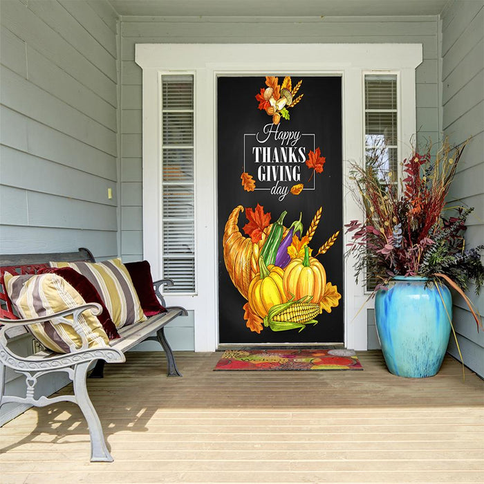Thanksgiving Fabric Door Cover