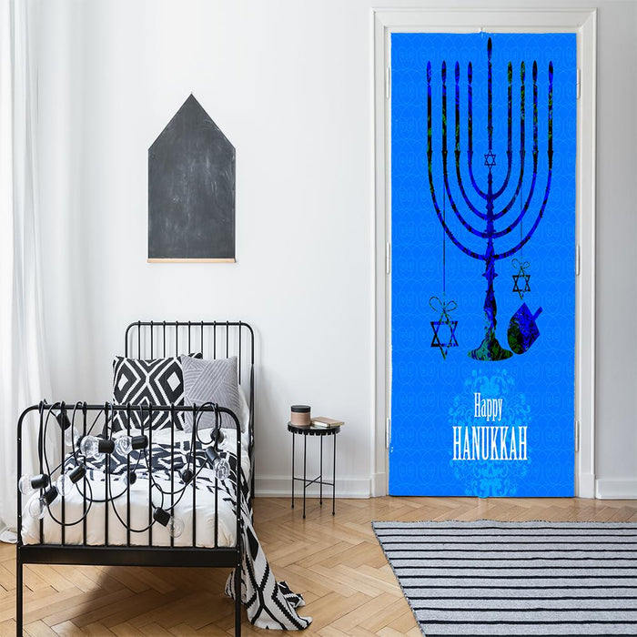 Happy Hanukkah Menorah Candles