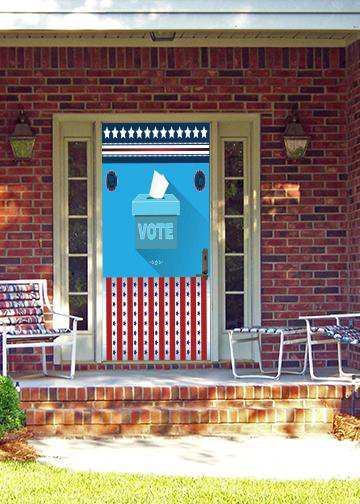 Rock the Vote, Door Cover - Door Decoration