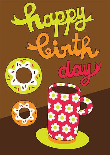 Happy Birthday Coffee & Donuts