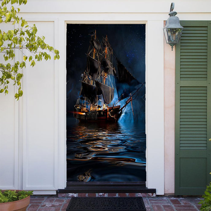 Pirate Ship Bedroom, Door Cover - Door Decoration