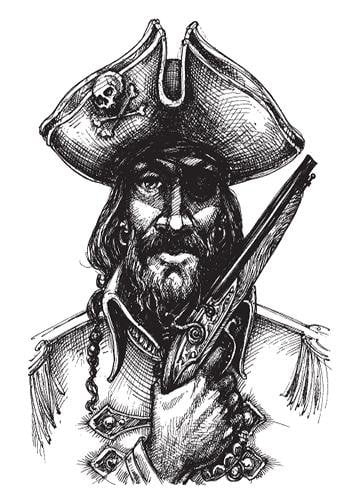 Blackbeard, Door Cover - Door Decoration