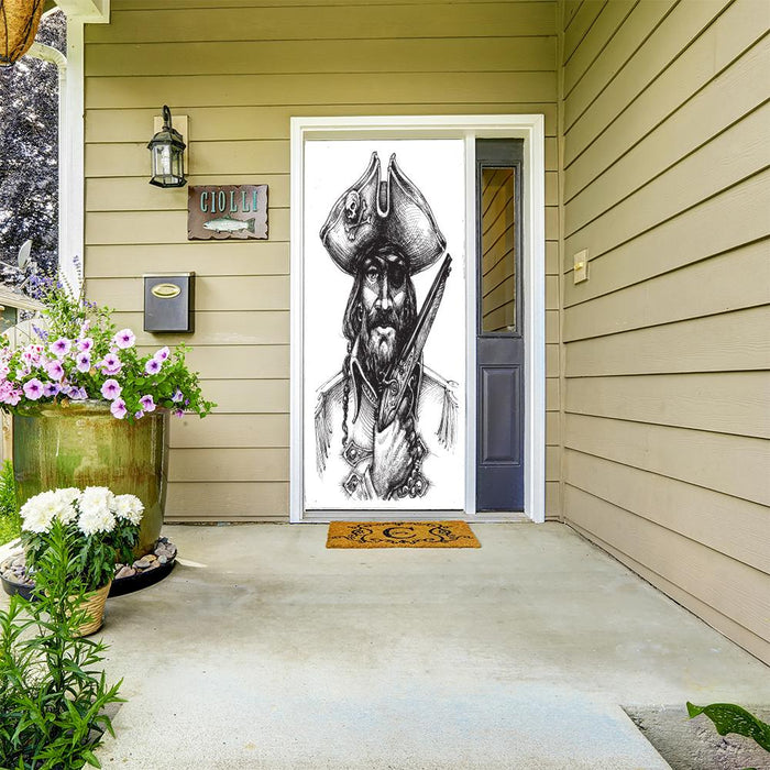 Blackbeard Pirate Door decoration