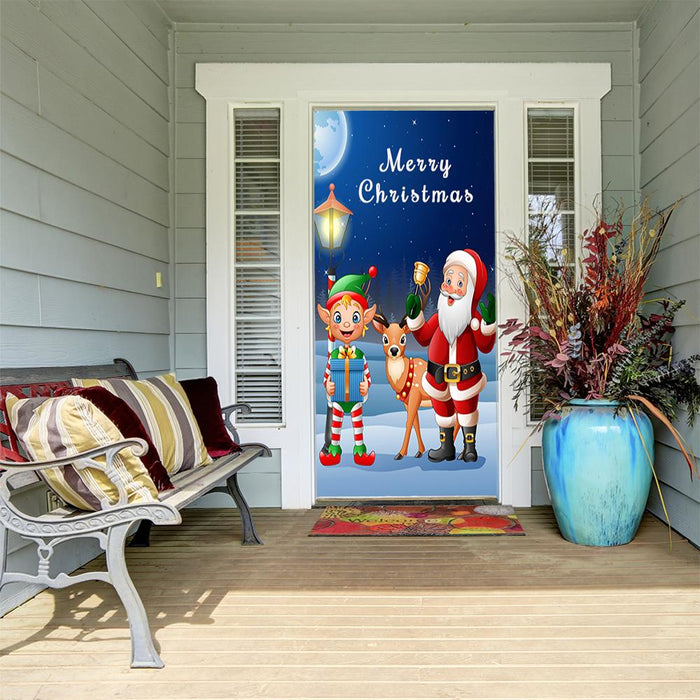 Santa and friends door decor