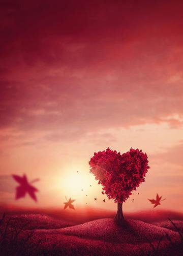 Customizable - Heart Love Tree