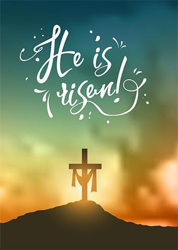 He Is Risen Cross