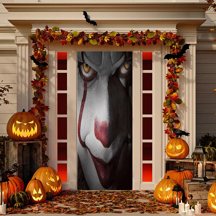 Pennywise Scary Fabric Door Decoration