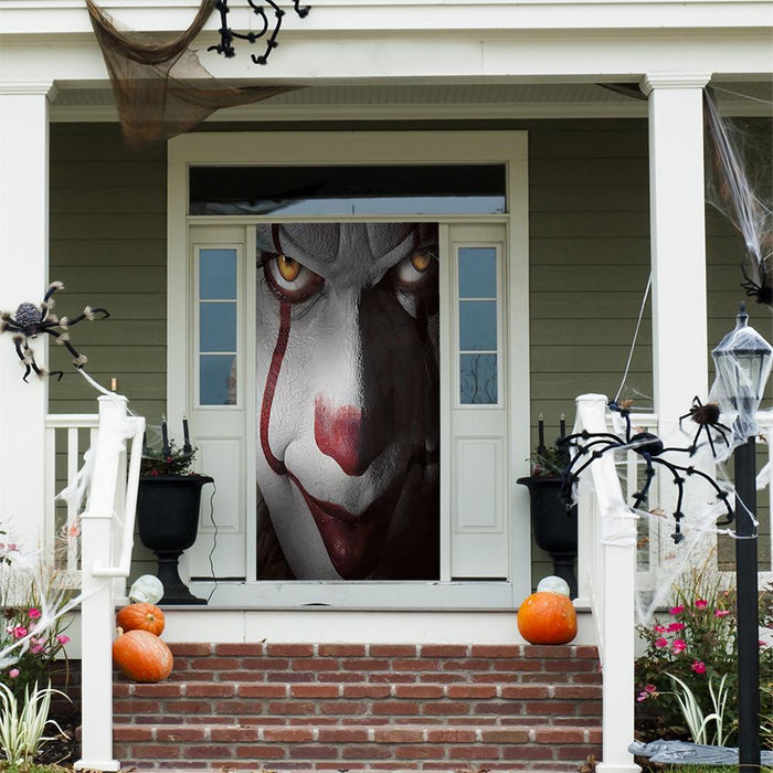 Pennywise Scary Fabric Door Decor