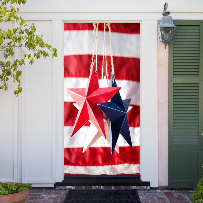 Hanging Stars on American Flag