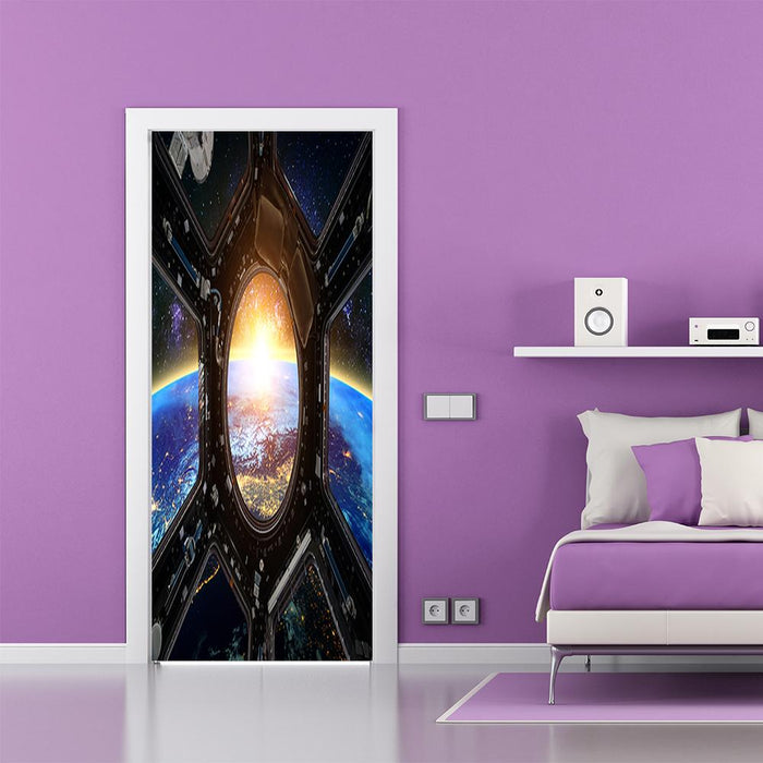 Earth and Spaceship Decor