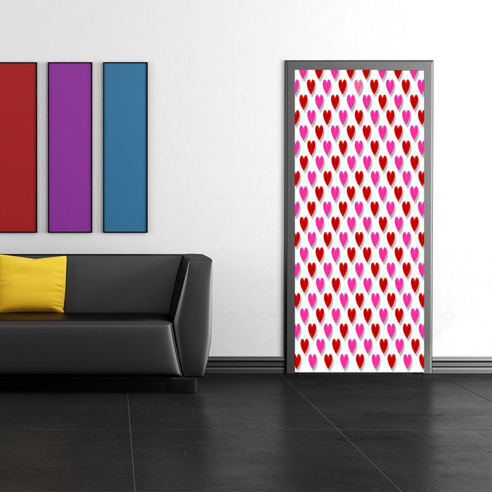 Heart Pattern Door Cover