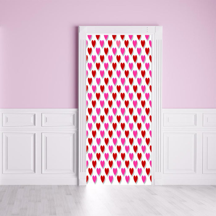 Heart Pattern Fabric Door Cover