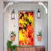 Fall Door Decor Fabric Door Cover