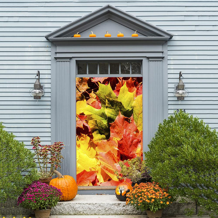 Fall Door Decoration, door cover