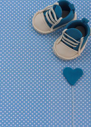 Customizable - It's a Boy - Baby Shoes