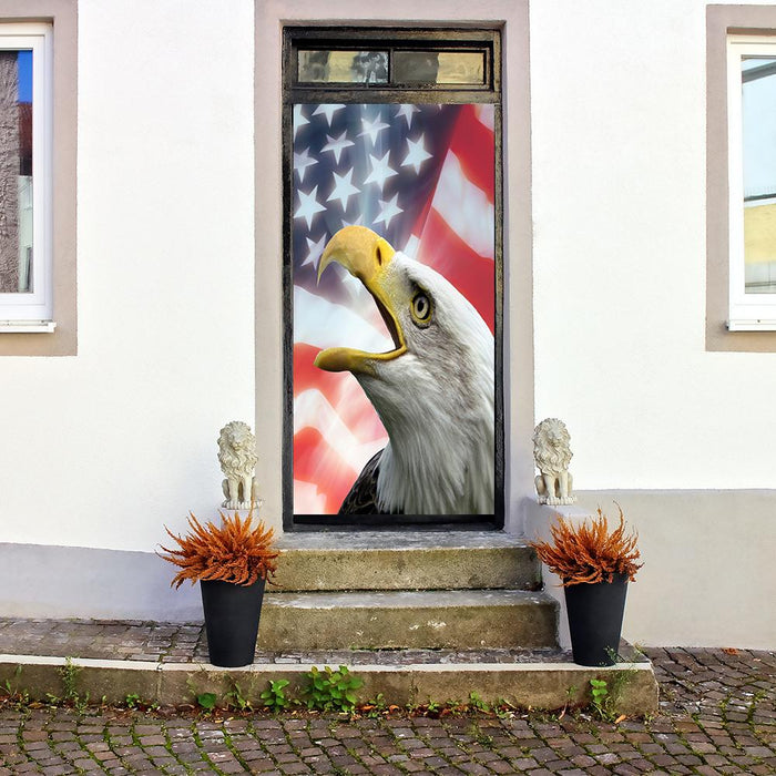 Bald Eagle on American Flag