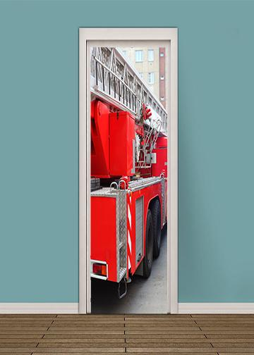 Fire Truck Bedroom, door cover