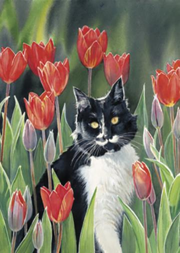 Lucy and Tulips by Susan Bourdet
