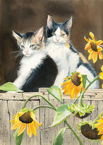 Susan Bourdet Cat Art