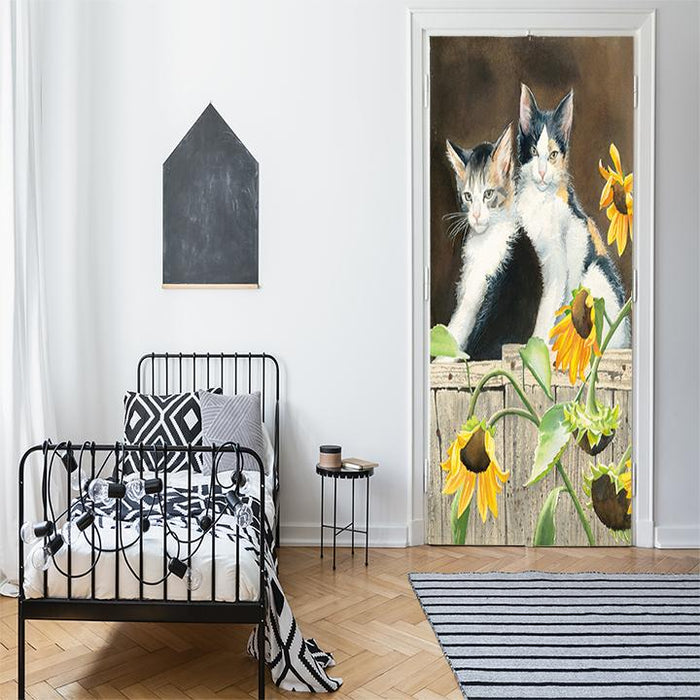 Susan Bourdet Cat Art door decoration