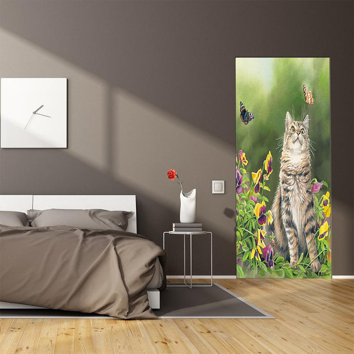 Outdoor Cat Decor Door Cover