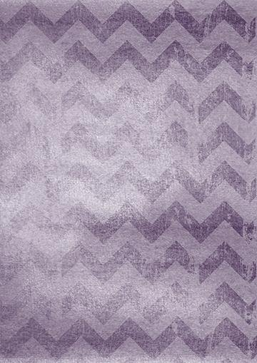 Purple ZigZag Background, Door Cover - Door Decoration
