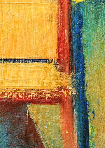 Abstract Art - Mixed Colors & Lines, Door Cover - Door Decoration