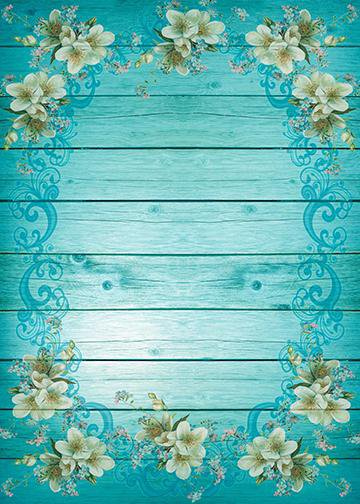 Turquoise Shiplap, DoorWrap - Door Decoration