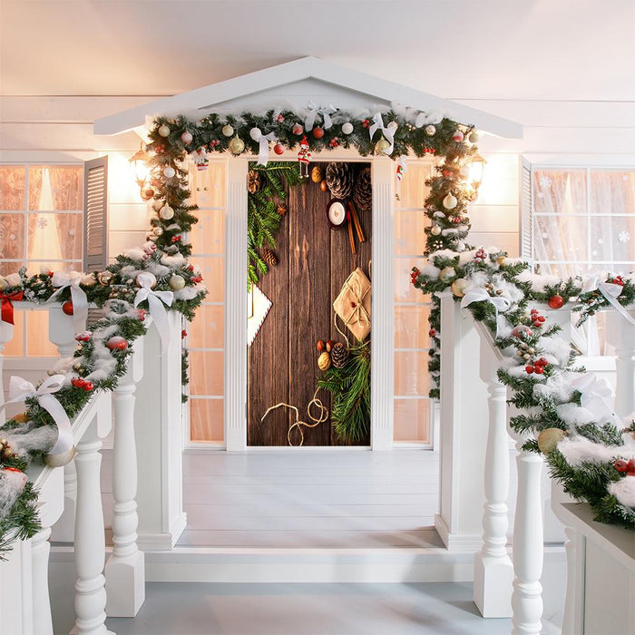 Christmas Holly door decor