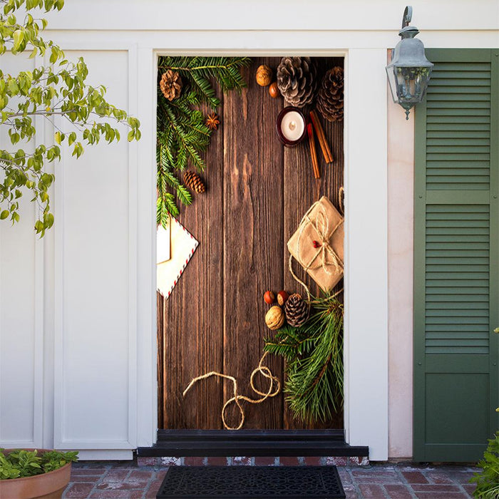 Christmas Holly door cover