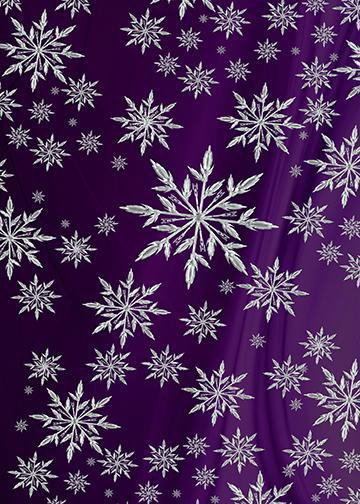 Snowflakes on Purple Drape Background, Door Cover - Door Decoration