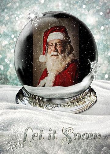 Santa - Let It Snow, Door Cover - Door Decoration