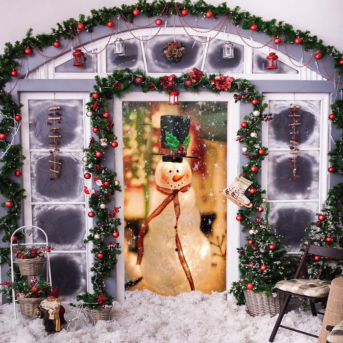 Snowman Door Decorations Front Porch Decor